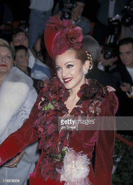 Madonna during 'Evita' Los Angeles Premiere at Shrine Auditorium in Los Angeles California United States