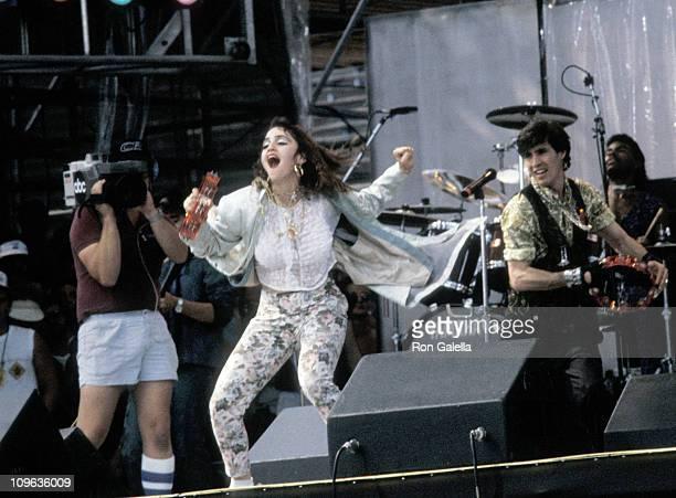 Madonna during Live Aid Concert July 13 1985 at JFK Stadium in Philadelphia Pennsylvania United States