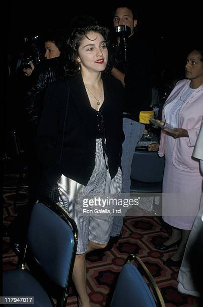Madonna during Mike Tyson vs Michael Spinks Fight at Trump Plaza June 27 1988 at Trump Plaza in Atlantic City New Jersey United States
