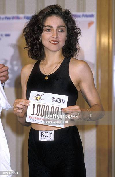 Madonna during Press Conference for The Race Against Time Charity Run August 8 1988 at Hemsley Hotel in New York City New York United States