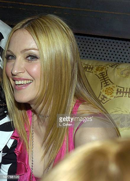 Madonna during Warner Entertainment 2004 Grammy Party at Kitano Japanese Restaurant in Los Angeles CA United States