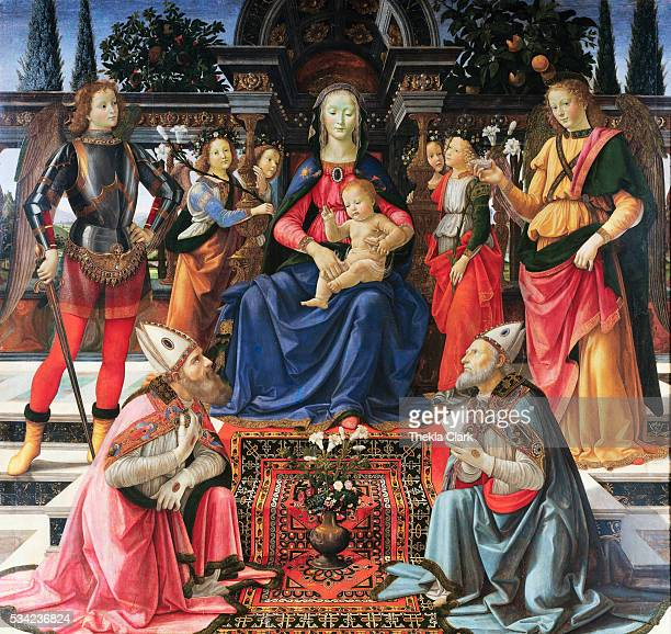 Madonna Enthroned with Saints by Domenico Ghirlandaio