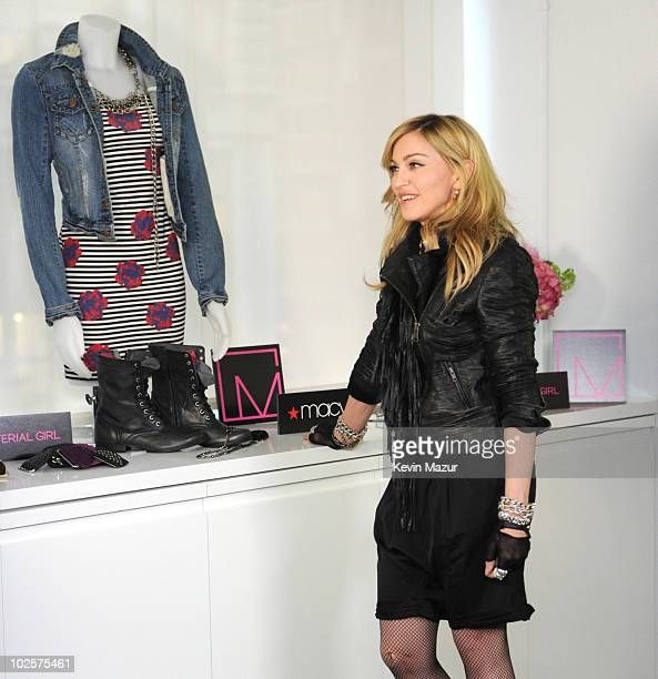 Madonna gets ready to launch Material Girl clothing line designed by Madonna and daughter Lola available exclusively at Macy's starting late July 2010