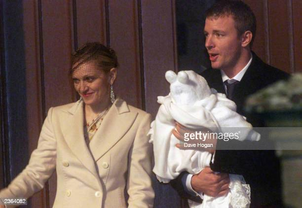 Madonna Guy Ritchie and baby Rocco leaving Dornoch Cathedral in Scotland Photo Dave Hogan/MP/Getty Images