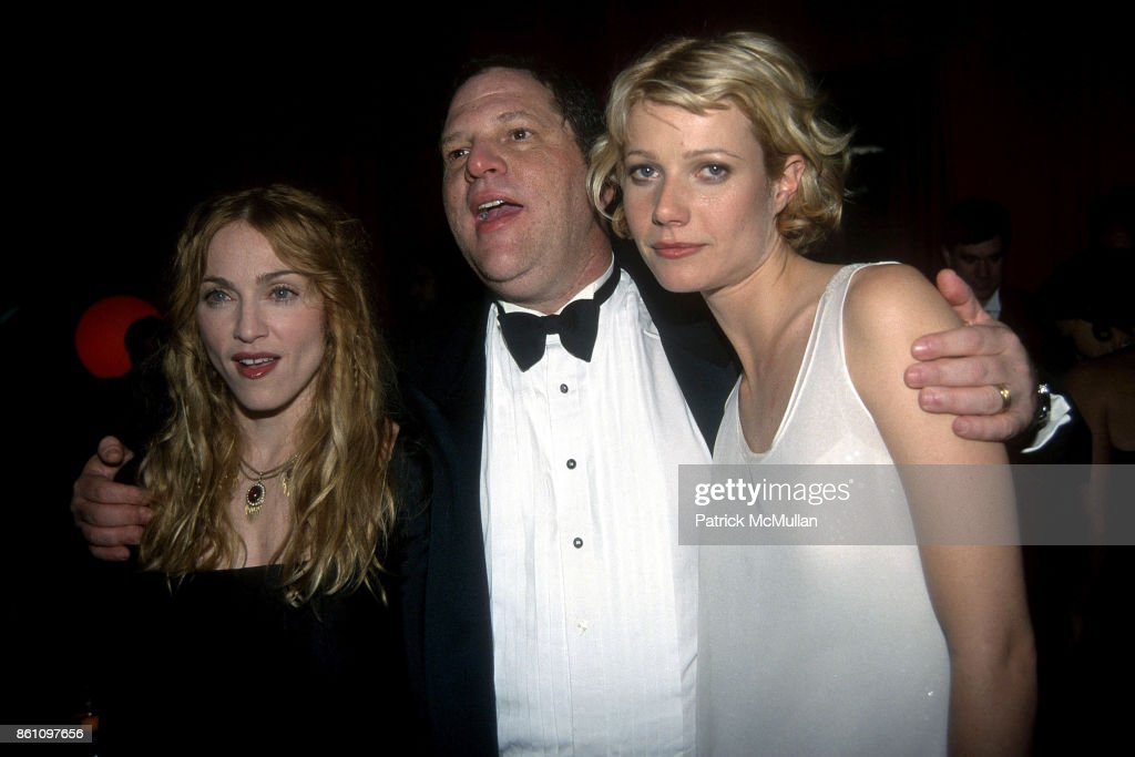 Madonna, Harvey Weinstein and Gwyneth Paltrow attend Annual Golden Globe Awards After Party Hosted by Miramax Films at the Beverly Hilton Hotel on January 18, 1998 in Beverly Hills, CA.