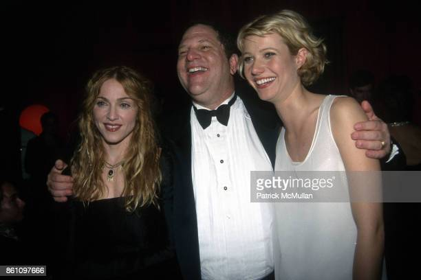 Madonna Harvey Weinstein and Gwyneth Paltrow attend Annual Golden Globe Awards After Party Hosted by Miramax Films at the Beverly Hilton Hotel on...