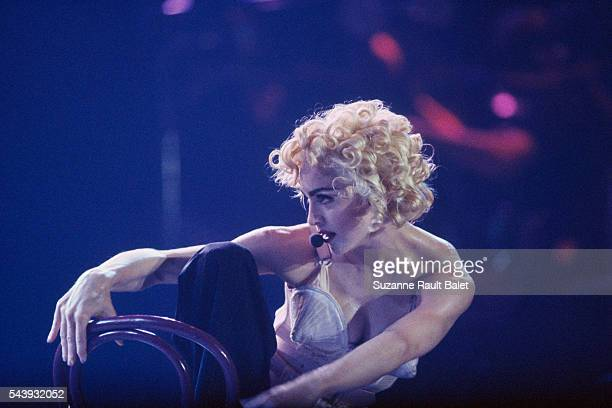 Madonna in concert at Bercy, in Paris.
