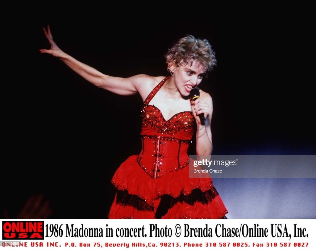 1986 Madonna in concert. : News Photo