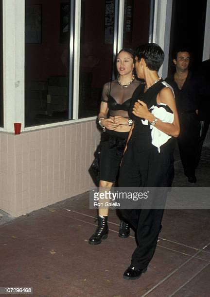 Madonna Indrid Casares during Madonna and Ingrid Casares Outside of Ajax Nightclub in South Beach at Ajax Nightclub in Miami Florida United States