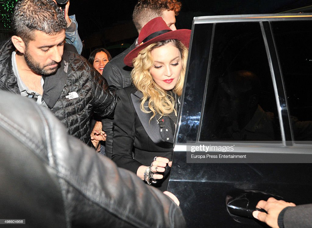 Madonna Sighting in Barcelona - November 26, 2015 : News Photo