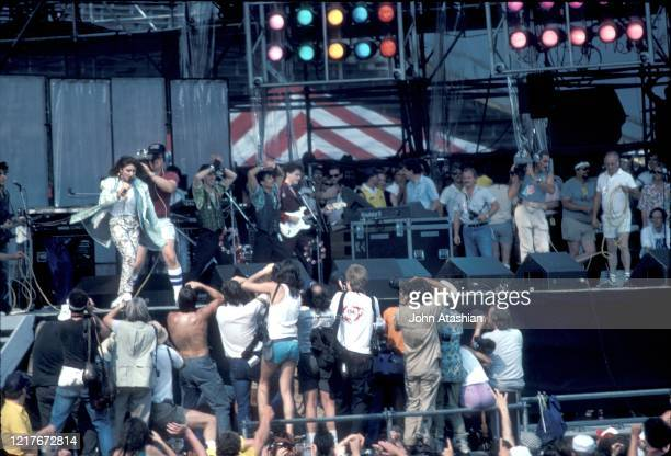 Madonna is shown performing at Live Aid in Philadelphia on July 13,1985.