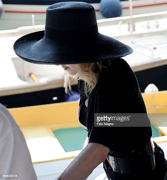 Madonna is sighted on August 17 2009 in Portofino Italy