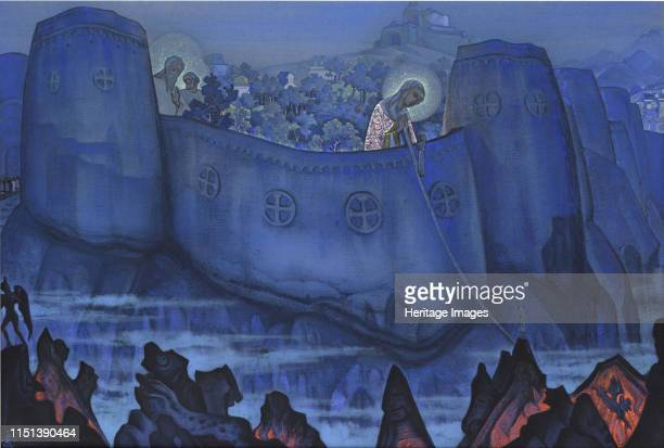 Madonna Laboris 1931 From a private collection Artist Roerich Nicholas
