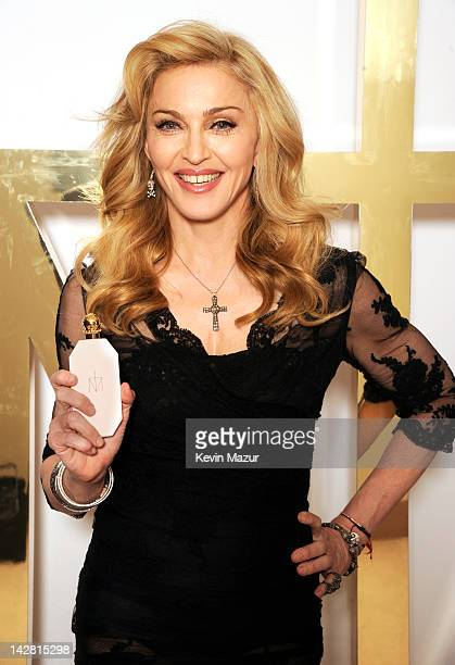 Madonna launches her first signature fragrance Truth Or Dare By Madonna at Macy's Herald Square on April 12 2012 in New York City