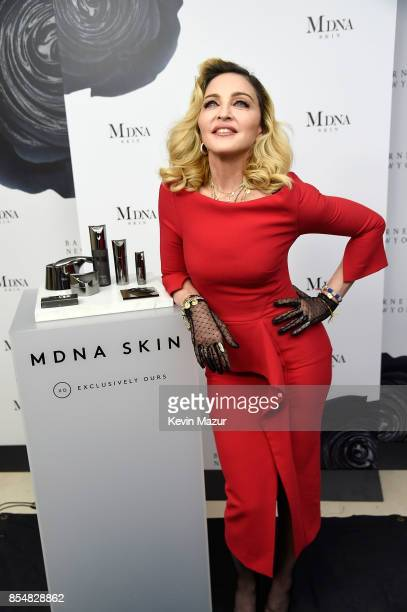 Madonna launches MDNA SKIN collection at Barneys New York on September 26 2017 in New York City