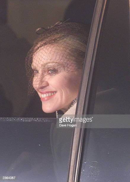 Madonna leaving Dornoch Cathedral in Scotland Photo Dave Hogan/MP/Getty Images