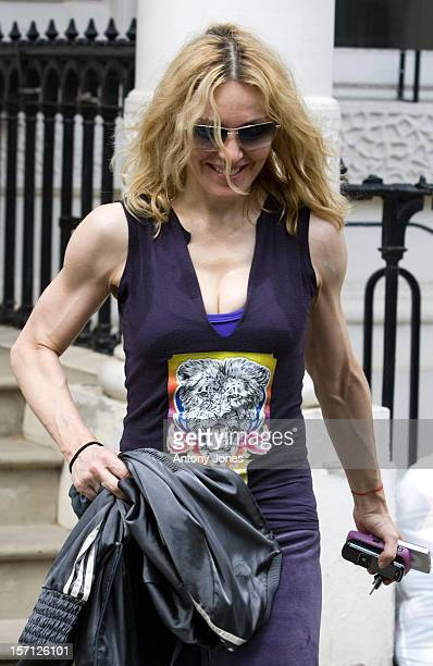 Madonna Leaving Her Gym In Central London After Working Out