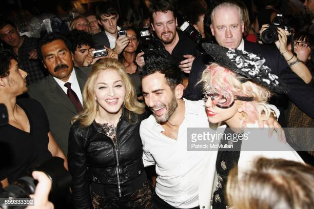 Madonna Marc Jacobs and Lady Gaga attend MARC JACOBS Spring 2010 Collection at The NY State Armory on September 14 2009 in New York City