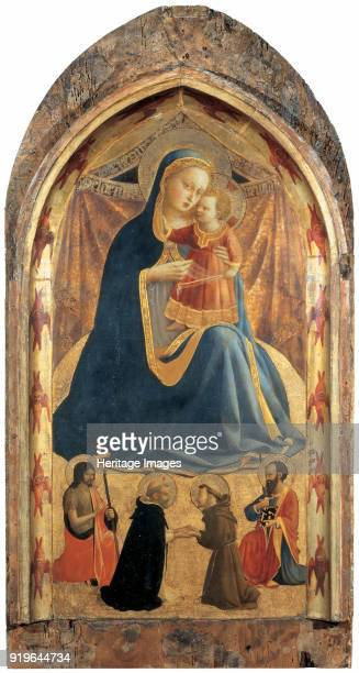 Madonna of Humility with Saints ca 1429 Found in the Collection of Galleria Nazionale Parma