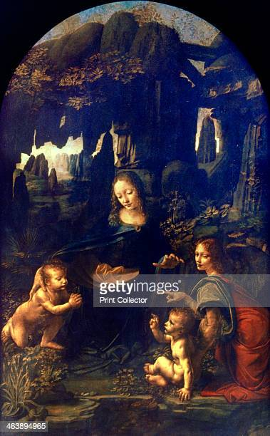 'Madonna of the Rocks' 14821486 The meeting of the baby Jesus and John the Baptist during the Flight into Egypt From the collection of the Louvre...