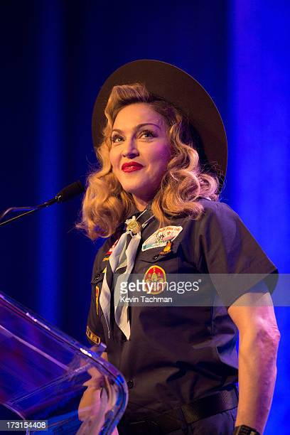 Madonna onstage at the 24th annual GLAAD Media awards at The New York Marriott Marquis on March 16 2013 in New York City