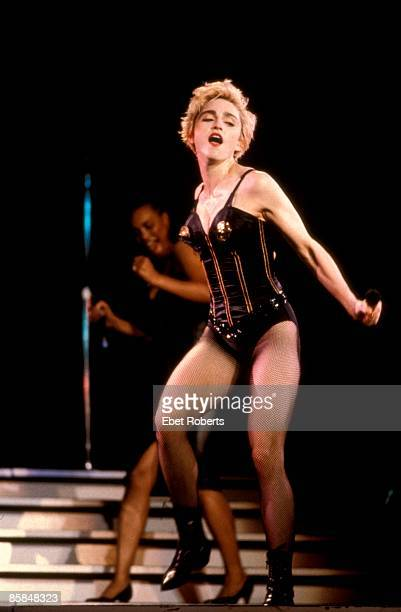 Photo of MADONNA Madonna performing on stage Who's That Girl tour