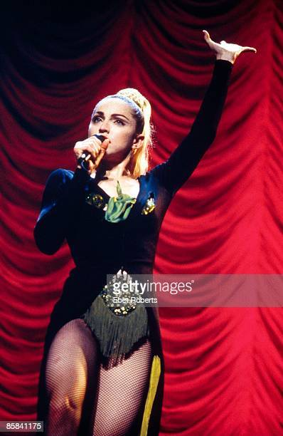 Madonna performing on tour - Blond Ambition Tour