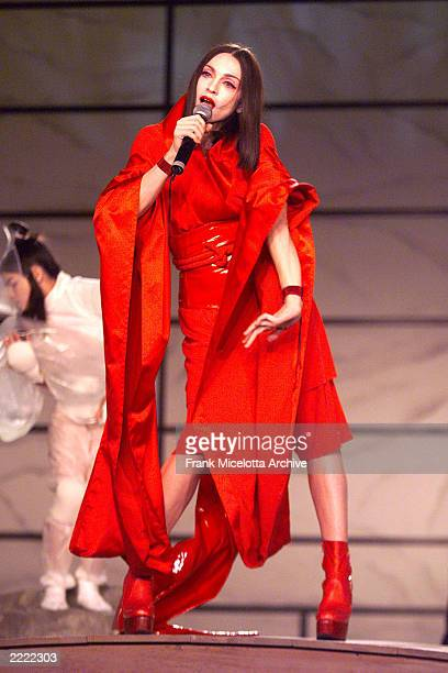 Madonna performing the 41st Annual Grammy Awards at the Shrine Auditorium in Los Angeles, 2/24/00.