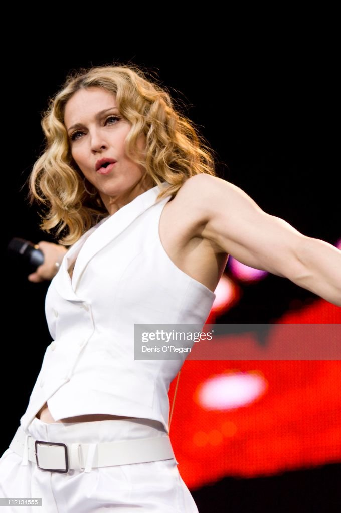Madonna performs at Live 8 in London, 2005.