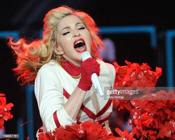 Madonna performs at Philips Arena on November 17 2012 in Atlanta Georgia