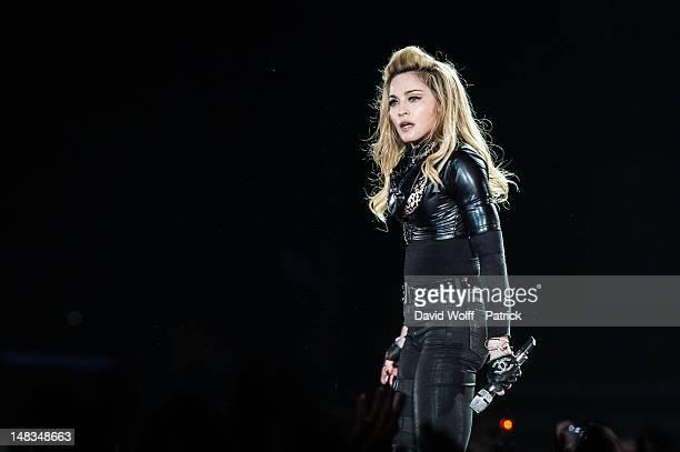 Madonna performs at Stade de France on July 14 2012 in Paris France