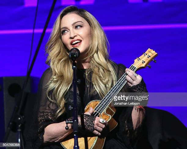 Madonna performs at the 5th Annual Sean Penn Friends HELP HAITI HOME Gala Benefiting J/P Haitian Relief Organization at Montage Hotel on January 9...