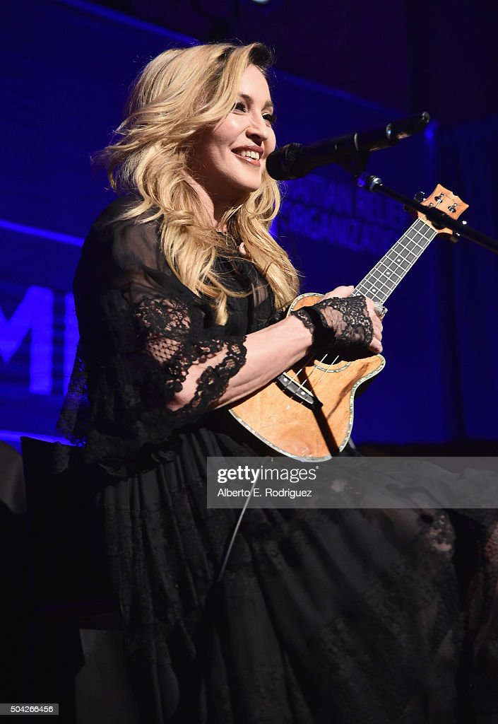 Madonna performs at the 5th Annual Sean Penn & Friends HELP HAITI HOME Gala Benefiting J/P Haitian Relief Organization at Montage Hotel on January 9, 2016 in Beverly Hills, California.