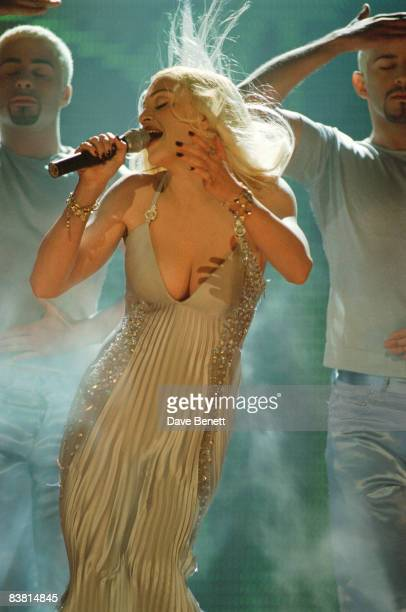 Madonna performs at the BRIT awards at Alexandra Palace London 19th February 1995