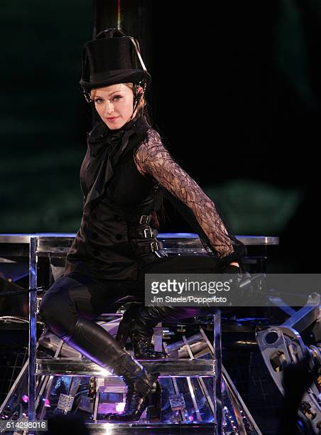 Madonna performs at the first London concert of her 'Confessions' world tour at Wembley Arena August 1, 2006 in London, England.