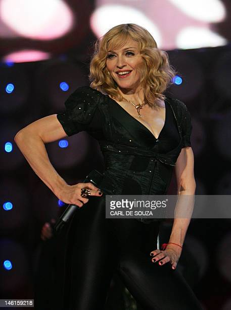 Madonna performs at the Live Earth concert at Wembley stadium in London 07 July 2007
