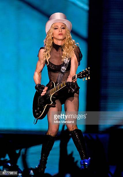 Madonna performs At Wembley Arena on September 11 2008 in London