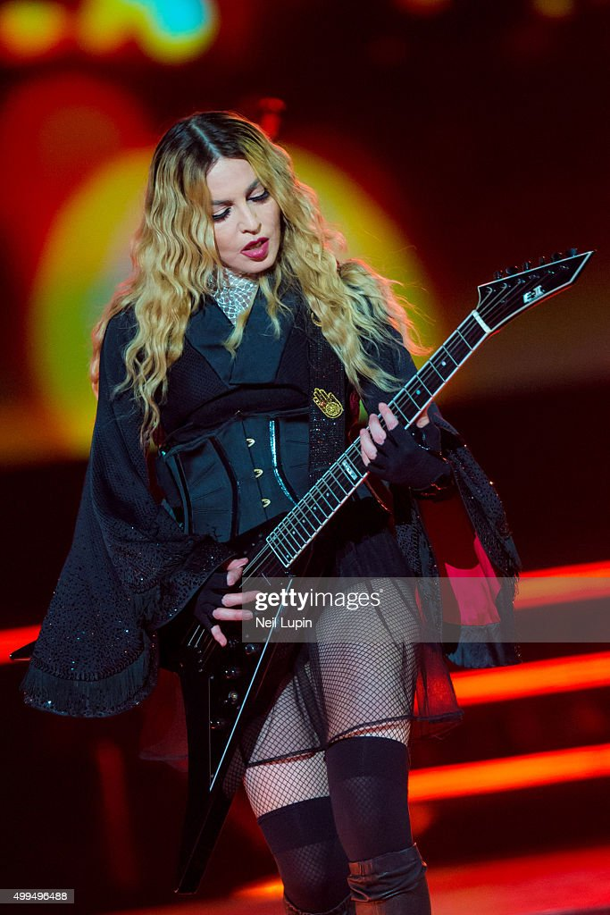 Madonna performs during her 'Rebel Heart Tour' at The O2 Arena on December 1, 2015 in London, England.