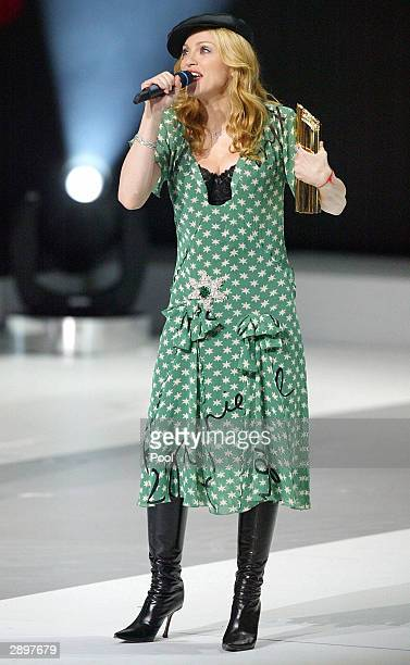 Madonna performs during the NRJ Music Awards ceremony January 24 2004 in Cannes southern France