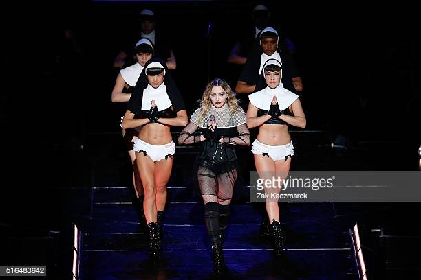 Madonna performs her 'Rebel Heart' Tour at Allphones Arena on March 19 2016 in Sydney Australia