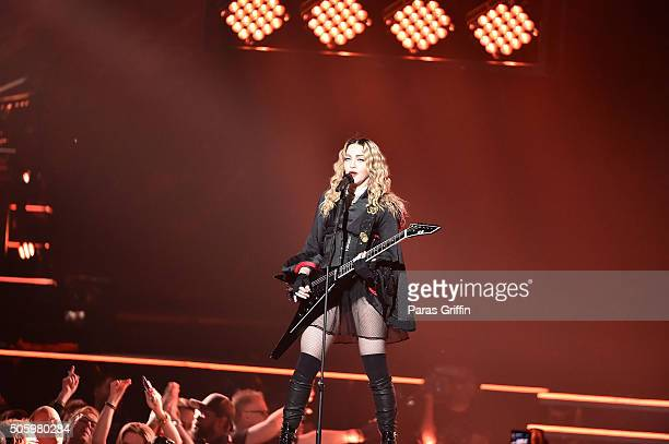 Madonna performs in concert during her Rebel Heart Tour at Philips Arena on January 20, 2016 in Atlanta, Georgia.