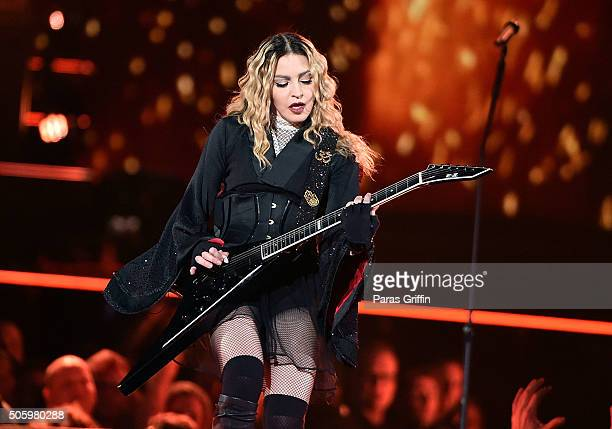 Madonna performs in concert during her Rebel Heart Tour at Philips Arena on January 20 2016 in Atlanta Georgia