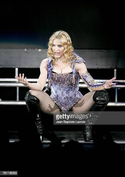 Madonna performs in the ReInvention World Tour