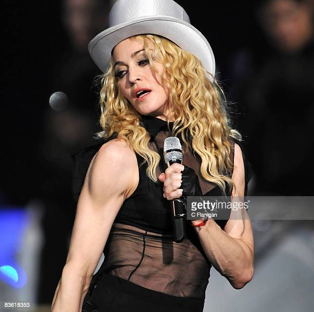 Madonna performs live in concert during her Sticky and Sweet Tour at the MGM Grand Garden Arena on November 8 in Las Vegas, Nevada.