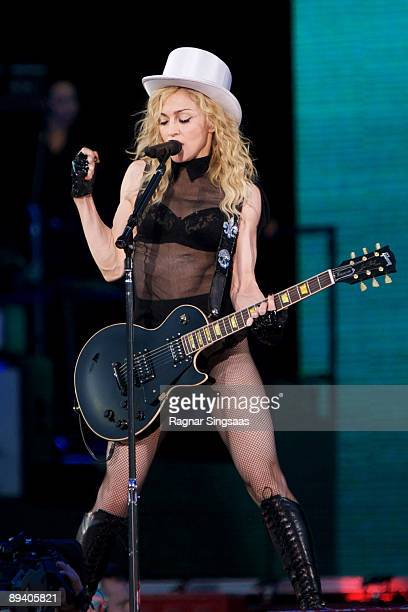 Madonna performs on July 28, 2009 in Oslo, Norway.