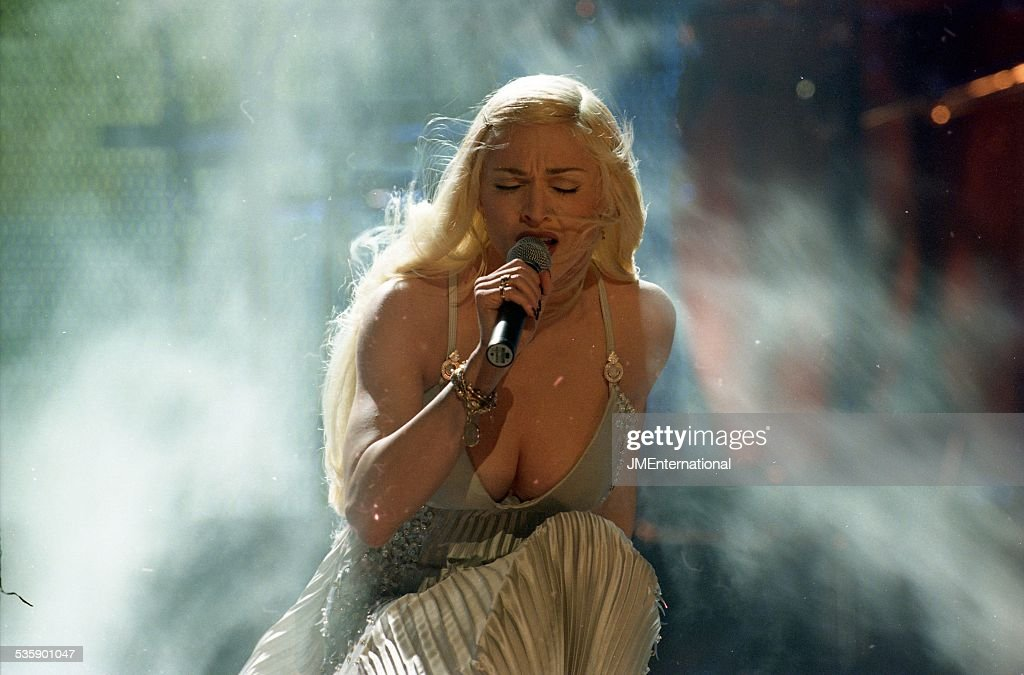 Madonna Performs At The BRIT Awards 1995