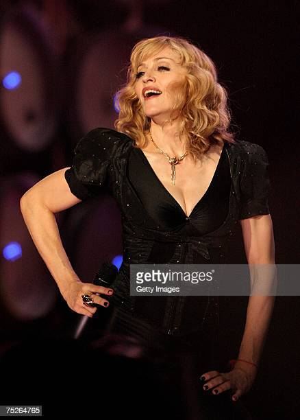 Madonna performs on stage during the Live Earth concert at Wembley Stadium on July 7, 2007 in London, England. Live Earth is a 24-hour, 7-continent...