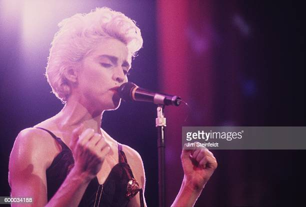 Madonna performs on the Who's That Girl Tour at the St Paul Civic Center in St Paul Minnesota on July 29 1987