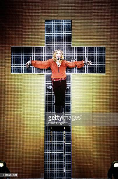 Madonna performs onstage at the first London concert of her Confessions World Tour at Wembley Arena August 1 2006 in London England