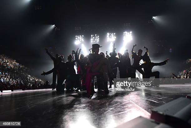 Madonna performs onstage during her 'Rebel Heart' tour at Bell Centre on September 10 2015 in Montreal Canada